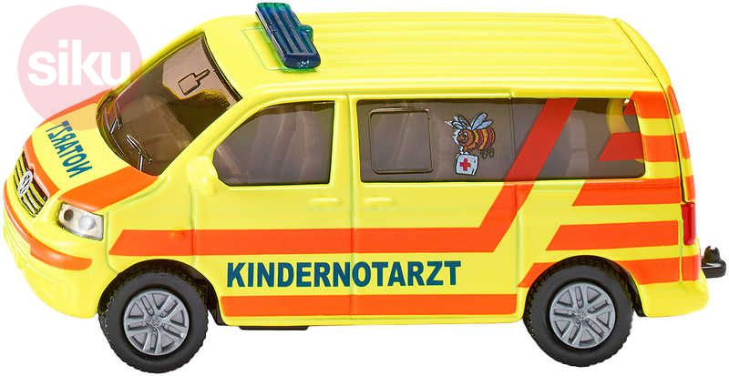 SIKU VW Transportér ambulance model 1462 sanitka KOV